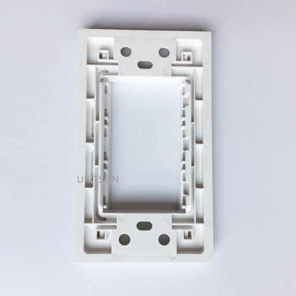 Cheap Extension Socket 120mm Length Blank Wall Outlet Face Frame In White Color Suit For 3 Modules Socket 23x36mm