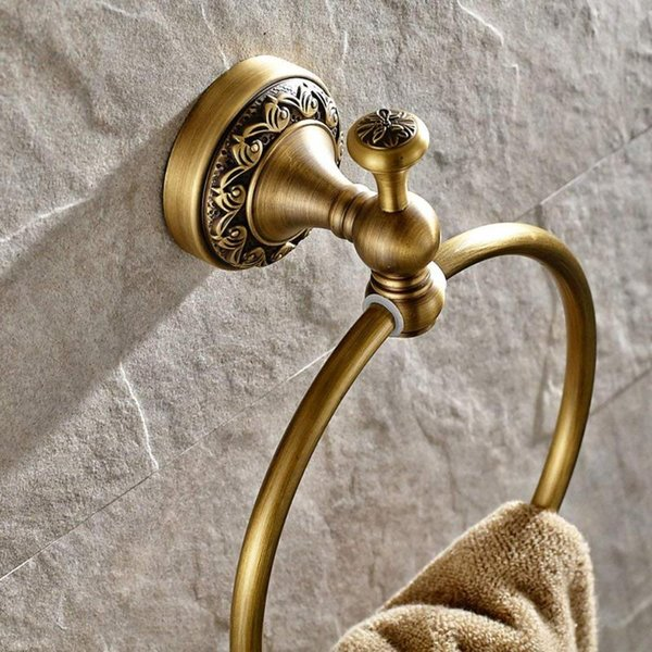 top popular Towel Rings Luxury Gold Towel Ring Holder Bath Bar Bathroom Accessories Home Decoration Useful 2021