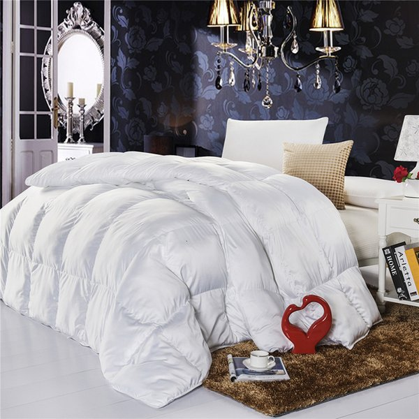 best selling 2021 New White Luxo Duck goose Hedden Consoler Quilt Queen of Single King Bed Filler Thick Autumn  Winter Blanket 1khh