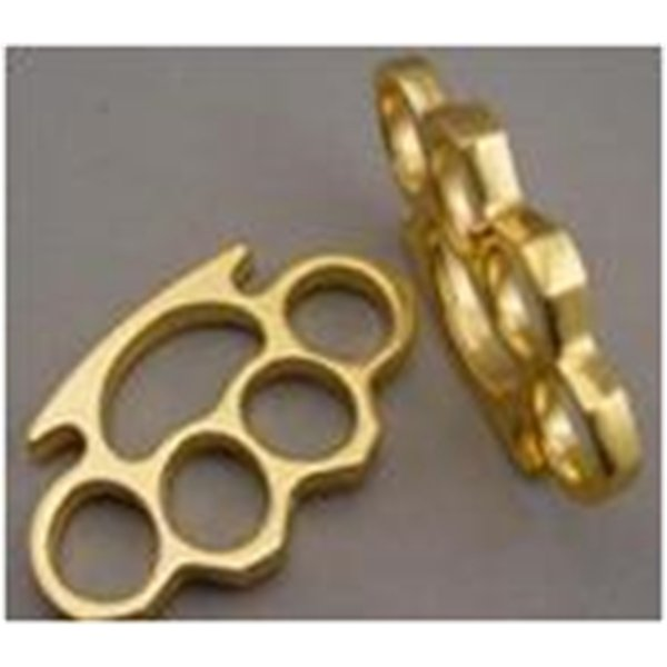 top popular Gold Brand New Metal Brass Brass Metal Knuckle Buster Belt Buckle Fighter Cool Hip Dusters Free Sh 2021