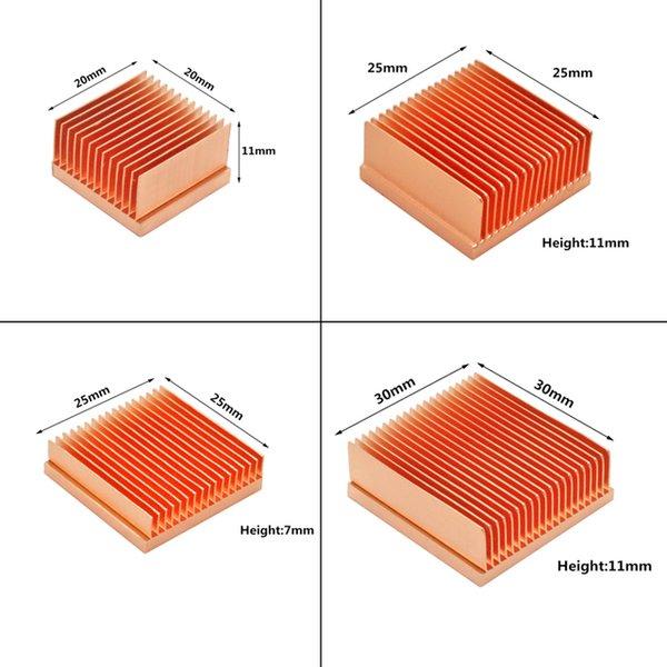 ANS 냉각 순수 구리 방열판 DIY 히트 싱크 라디에이터 냉각 냉각기 Raspberry PI 전자 3D 프린터 칩 IC MOS 열 해제 ...