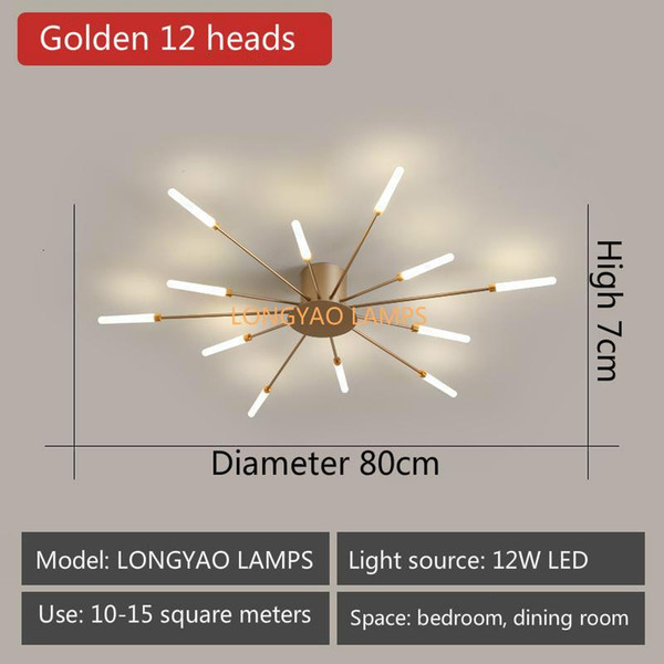 Golden 12 Heads-Neutral Light