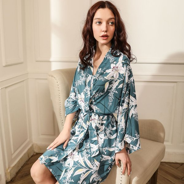 Blue Flower in Single Robe
