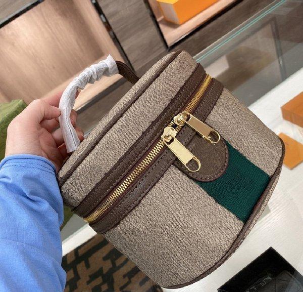 top popular Fashion Women's Cosmetic Bags Designer Retro Letter Print Handbag High Quality Temperament Make-up Bag Trend WF2103121 2021