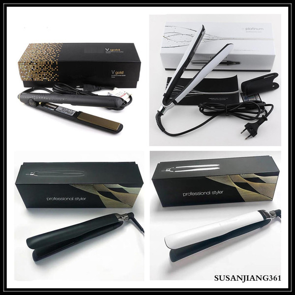 top popular EPACK 1PC V Gold Max Hair Straightener Classic Professional styler Fast Hair Straighteners Iron Hair Styling Tool PLATINUM+ DROP SHIPPING 2021