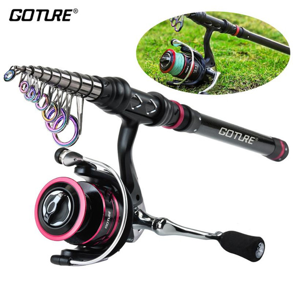 best selling Goture AQUILA Metal Fishing Reel Rod Combo 1.8-3.6M Carbon Rod with 2000-4000 Spinning Fishing Reel Vara De Pesca