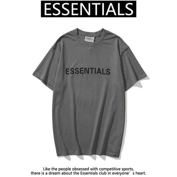 best selling 20qa Ins Hot Spring Summer Hip Hop Fear Of God Front Essentials 3D Silicon Tee Skateboard Tshirt Fog Men Women Short Sleeve Casual T Shirt