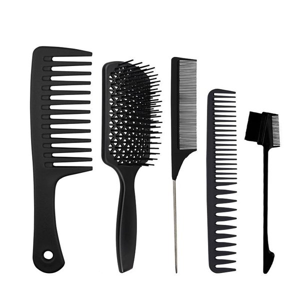 best selling Cross-border special supply hairdressing hair brush thickening big knife comb tail comb wide teeth massage comb female net red household sui