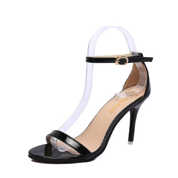 Thin Heels Women Pumps Ankle Strap Sandals Shoes Woman Ladies Pointed Toe High Heels Dress Party Shoes Big size 2021Dress Shoes