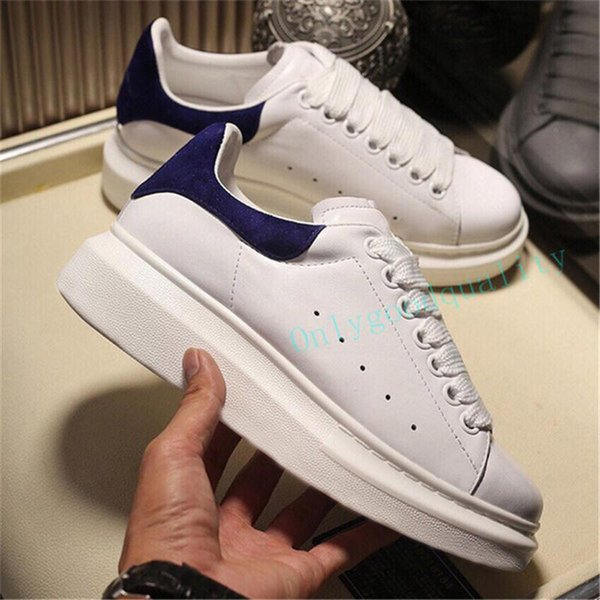 best selling Mens fashion white leather casual shoes for girl women black gold red comfortable flat sports sneaker size 35-45 with box