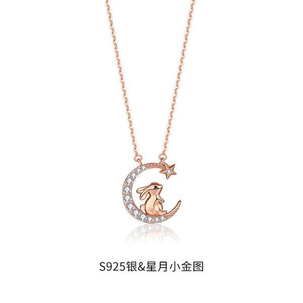 Douze Collier de lapin Zodiac-925 Silver