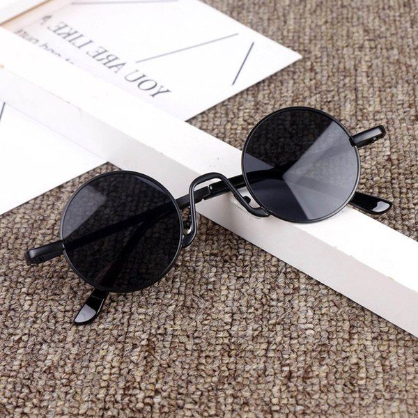 top popular Olnylo Candy Color Popular Kids Round Metal Childrenl Sunglasses Girl Boy Cute Eyewear Fashion Sun Glasses Shade Uv400 2021