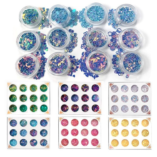 ewelry Tools & Equipments 12 Bottles Resin Jewelry Fillings Flat Round PVC Loose Sequins for Crafts Paillettes Sewing Decoration Epoxy fo...