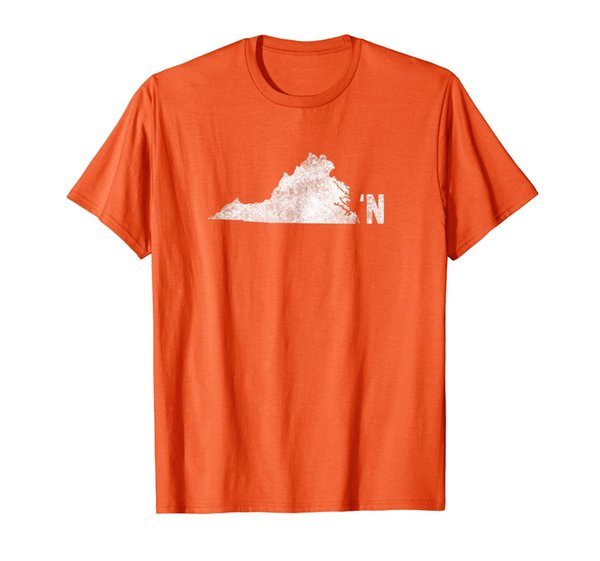 Vintage Virginia Apostrophe N State Map Outline T-Shirt
