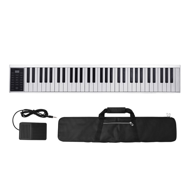 best selling 61 Keys Digital Electronic Piano Keyboard MIDI Output 128 Tones 128 Rhythms 14 Demo Songs Recording Programming Playback