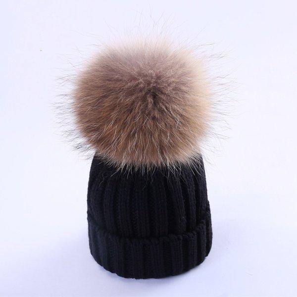 Black (cheveux de chien de 15-18cm de raton laveur)