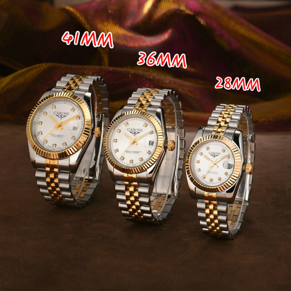 top popular U1 2813 mens automatic gold watch dress full Stainless steel Sapphire waterproof Luminous Couples Style Classic Wristwatches montre de luxe 2021