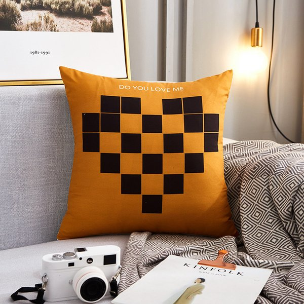 best selling Nordic style living room sofa cushion bedside back matte case square pillow without core 2021 L7DH