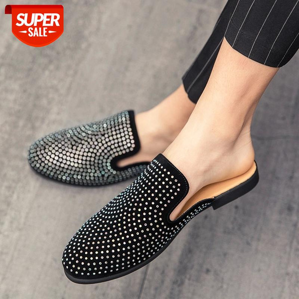 Men Mules Shoes men Slippers rhinestone luxury half shoes for men casual shoes fashion zapatillas hombre sapato social masculino #YL8t Cataloge Men Shoes, Shoes For Men, Male Shoes, Fashion ShoesStyle Fashion / Trendy / New / HotOccasion All Match / Streetwear / Club / PartyFor Group Men / MaleWearing Design Fashion / Comfortable / BreathableFeatures High Quality / AntiwearingKeywords Men Shoes, Shoes For Men, Male Shoes, Fashion Shoes