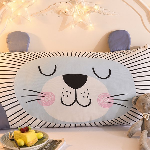 best selling Sofa bedside soft bag triangle cushion back cartoon pillow detachable children's back hold pillow core