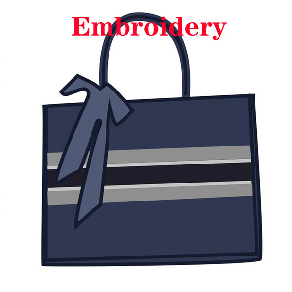 Custom Name 3D Hand Embroidery Bag Luxurys Advanced Designers Totes Women Book Purse Top Quality Handbags Jacquard All Letter 2021 DIY Tiger Canvas Shopping Bags