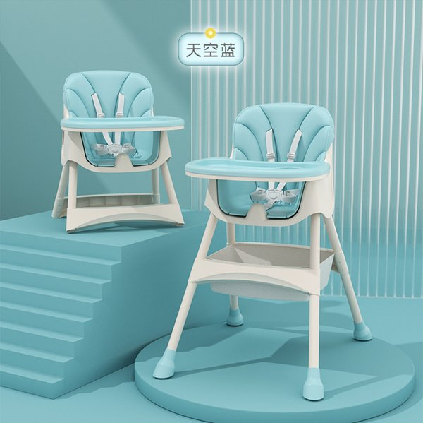 top popular Children's dining chair baby dining chair multifunctional hotel children's baby dining table and chair adjustable seat 2021