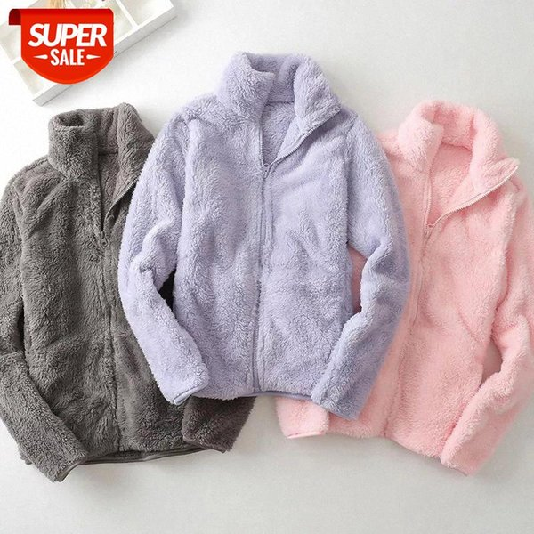 top popular plus velvet Coral fleece sweatshirt women winter clothes jacket outdoor zip-up fleece women warmth tops thick harajuku hoodie #ks3b 2021