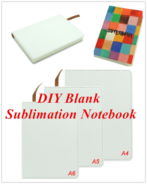 best selling Blank Sublimation Notebook A4 A5 A6 Sublimation PU-Leather Cover Soft Surface Notebook Hot transfer Printing Blank consumables DIY Gifts new