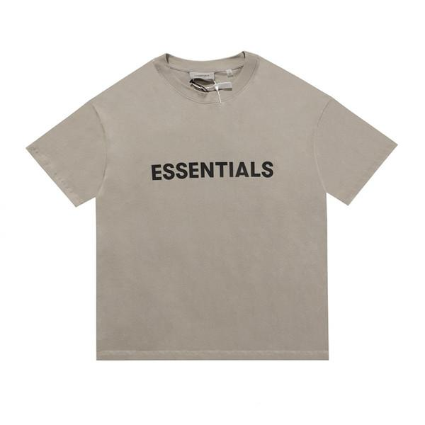 top popular Feel of God fog essentials double line silicone letter on chest short sleeve T-shirt for men and womenI67H0 2021