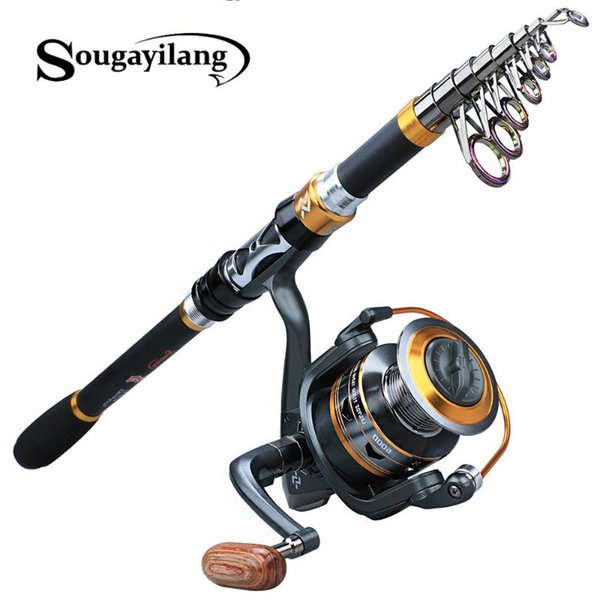 best selling Sougayilang Fishing Rod and Reel Combos Portable Fishing Pole Spinning Reels for Saltwater Freshwater Pesca