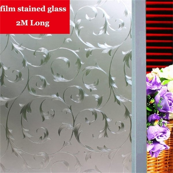 top popular Silver iron art pattern film stained glass Opaque Frosted Window Films Vinyl Static Cling Self adhesive Privacy Glass Stickers Y200421 2021