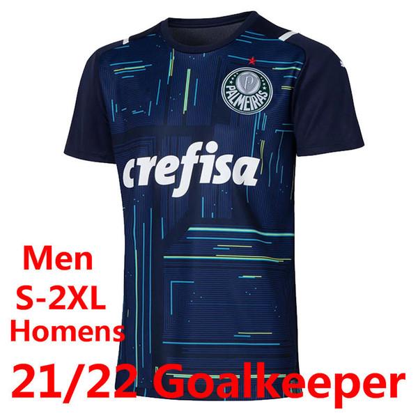 21-22 Blauer Torhüter.