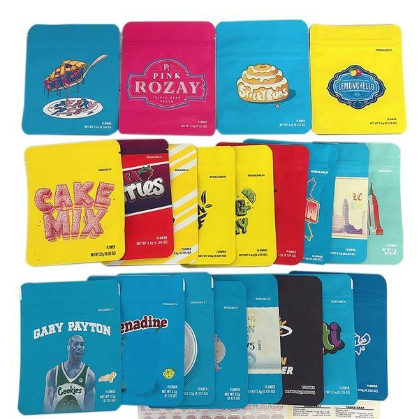 top popular New Cookies Bag 45 Types 3.5G 1 8 California Medellin YA HAMI LondonChello Pineapple Packaging Mylar Cookies Runtz Bags Wholesale 2021