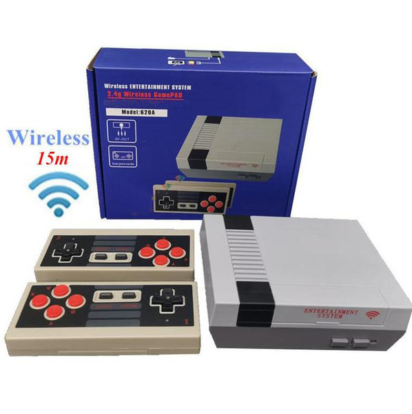 best selling 620 in 1 New 8 Bit 2.4G Wireless Video Game Console can store 620 games Retro TV Console Box AV Output Dual Player Controller