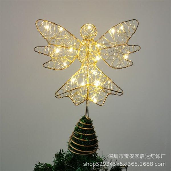Straight, iron five pointed star, Christmas tree top star decoration, off-site decoration.