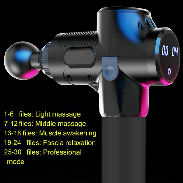 top popular Percussion Massage Guns Tool 4 Heads 30 Speeds Vibration Muscle Body Therapy Massager ALS88 2021