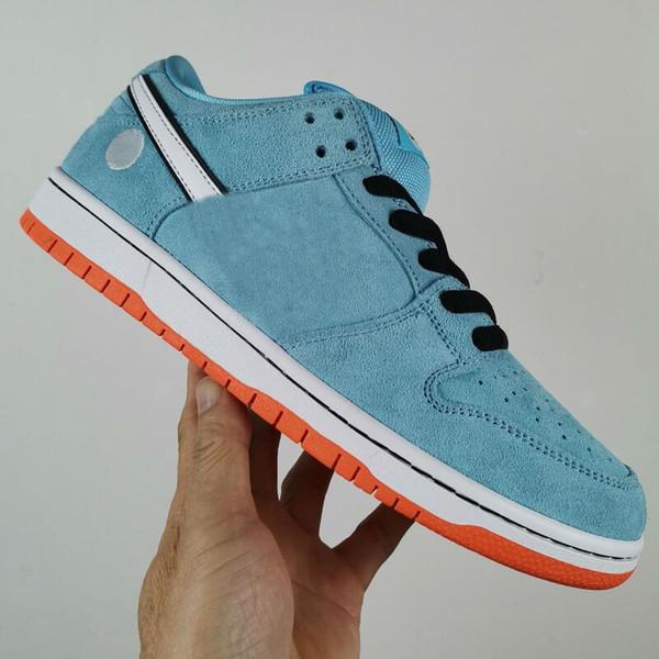 best selling WE see x Low Pro 58 Gulf StateBoard Shoe Light Blue Suede Men Women walking Sports Sneakers Mens Trainers