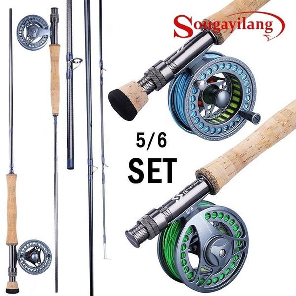 top popular Sougayolang 2.7m Fhishing Combo EVA   Metal Handle Carbon Fiber Rod with Aluminium Fishing Reel Fishing Tackle 2021