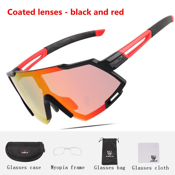Coated lenses-Black and red(04#)