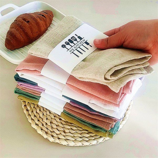 top popular 2021New Linen Napkins Linen Fabric Napkin Table Dinner Napkins For Wedding Party Size Available 2021