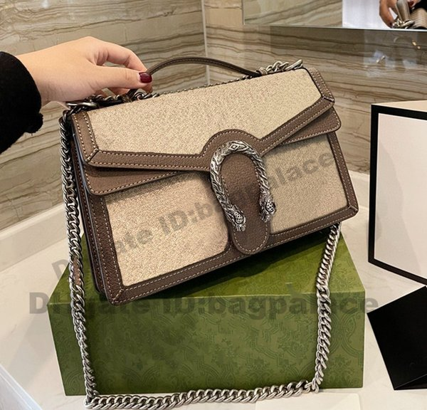 top popular High Quality Luxurys Designers Bags 28CM Flap Bag Chains Genuine Leather Handbags Girl Fashion Party Evening Women Cross Body Printed Flower 2021