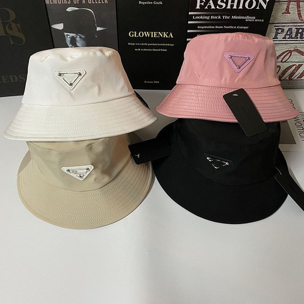 top popular 2021 spring Bucket Hat Cap Fashion Stingy Brim Hats Breathable Casual Fitted Hats Beanie Casquette 4 Color Highly Quality 2021