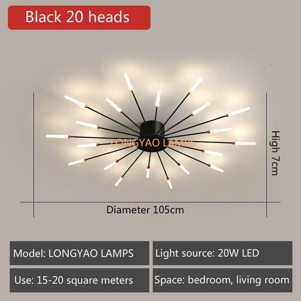 Black 20 Heads-Neutral Light