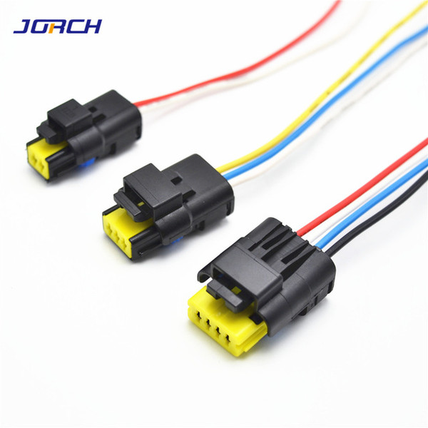 Cheap Harness 1set 2 3 4pin 1.5mm waterproof FCI plug 211PC042S4021 automotive electric connector with 0.5mm2Wiring harness