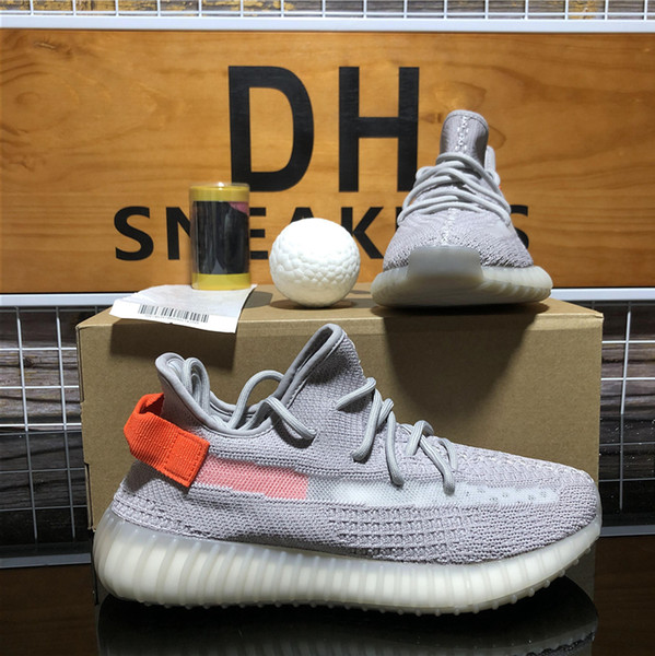 top popular TOP Quality Men Women Kanye West Running Shoes Zebra Tail Light Black Red Natural Cinder Static Reflective Mens Sport Sneakers With Box 2021