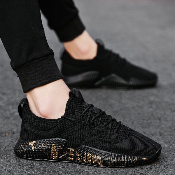 Fashion Men Shoes Leisure Summer Super Light Breathable Woven Mesh Shoes Star Black Casual Shoes Men Sneakers Soft Mens TrainersDress