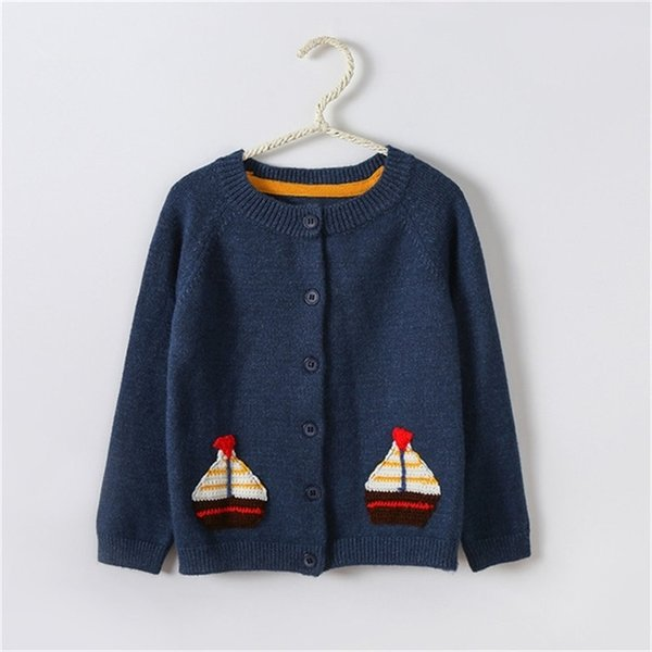 top popular Children Sweater Autumn Winter Toddler Cardigan Coat Kids Cartoon Cashmere Knitted Sweaters For Baby Boys Girls 2-6 Year Jacket 210811 2021