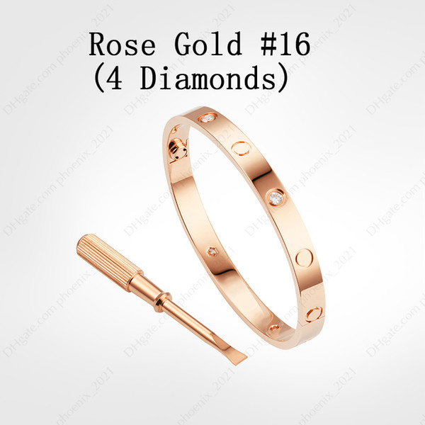 Rose Gold # 16 (4 Diamonds)