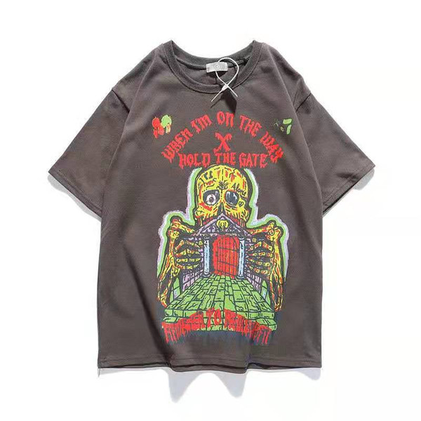 top popular 2021 New luxur embroidery tshirt fashion personalized Men and women Design T-shirts Female Tshirts Spring Summermens designer t shirts 2021