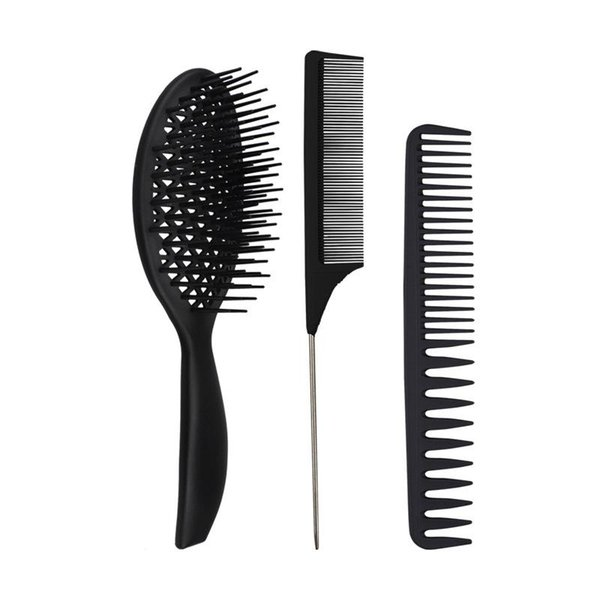 top popular Factory direct ladies curled hair comb wet two-purpose modeling hair big tooth comb hairdressing massage tool 2021